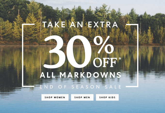 Roots Canada End of Season Sale: Save Extra 30% OFF ALL Sale + Over 40% OFF Clearance