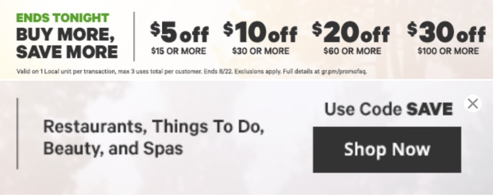 Groupon Canada Offer: Save an Extra $5 to $30 Off Local