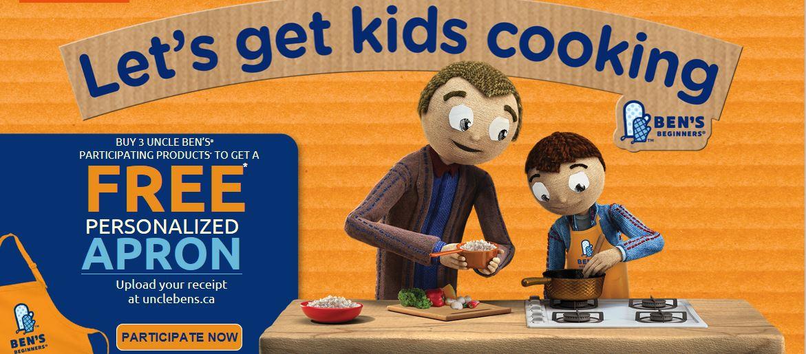 Uncle Ben's Canada Promotions: Get A FREE Peronalized Apron When You Purchase Three Products