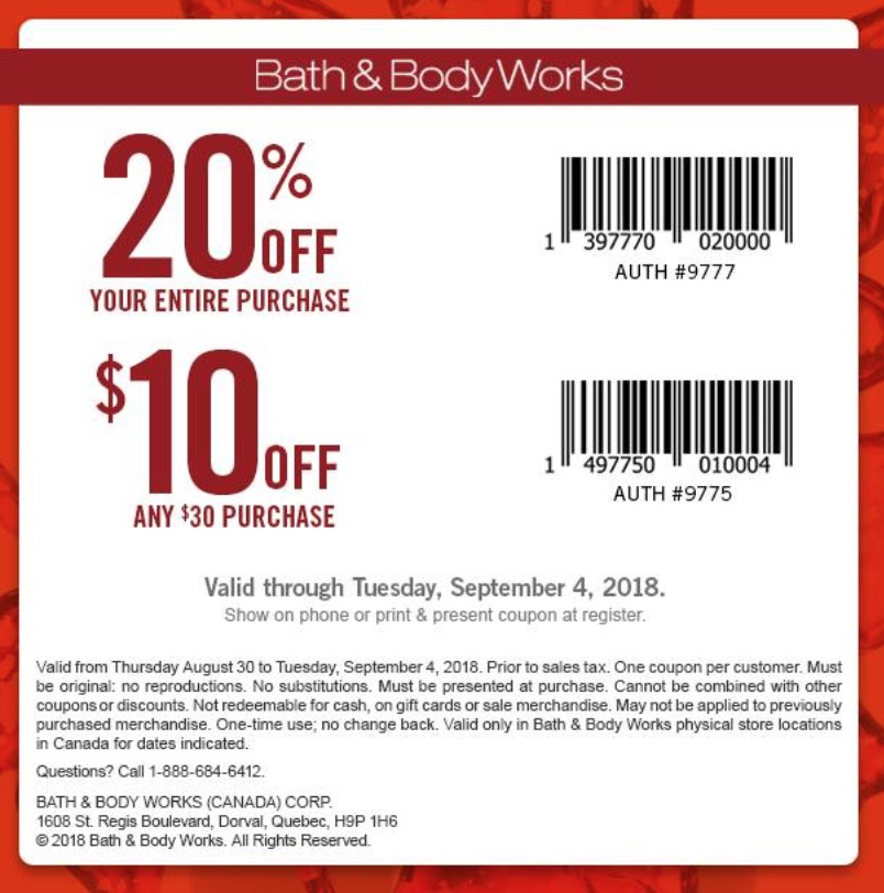 Today's Bath & Body Works Top Offers: