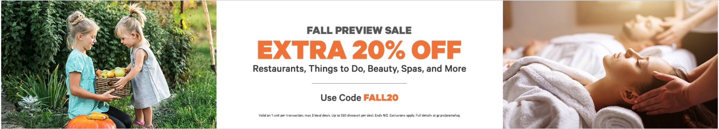 ac64c5b7c9a9 Groupon Canada has a new Fall Preview Sale available now where you can save  an extra 20% off Restaurants