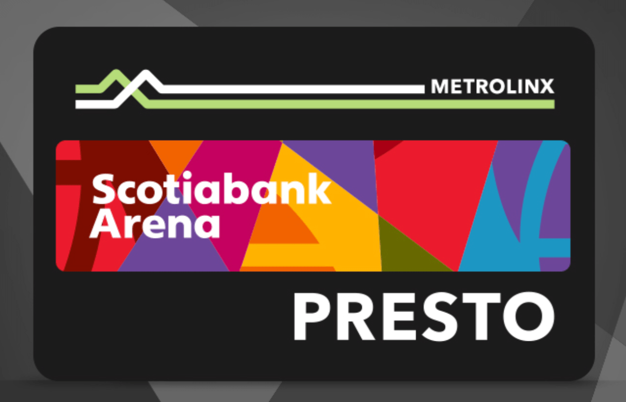 Scotiabank Arena Giving Away FREE Loaded PRESTO Cards