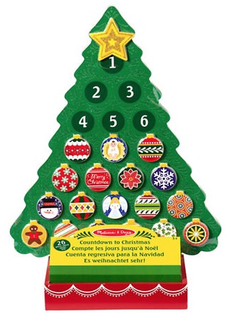 Hudson's Bay Canada Kids Toys Clearance Deals: Save 40% off MELISSA & DOUG Countdown to Christmas Wooden Advent Calendar for $14.99