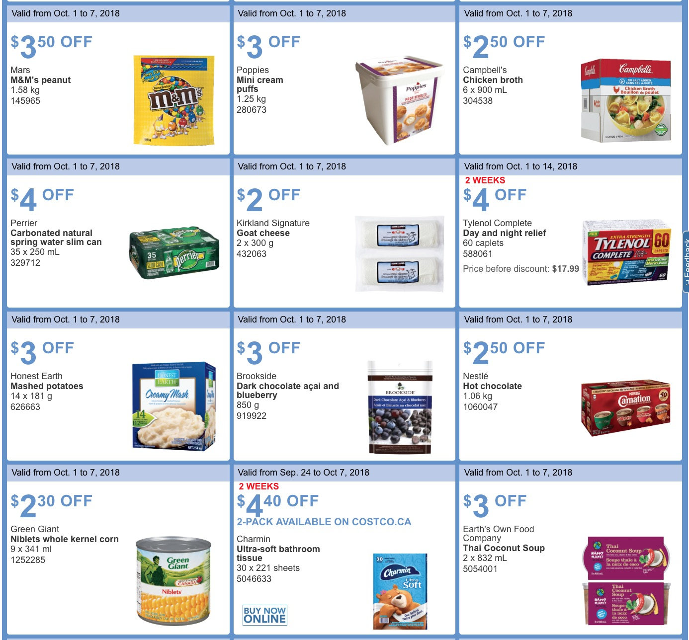 et weekly coupons