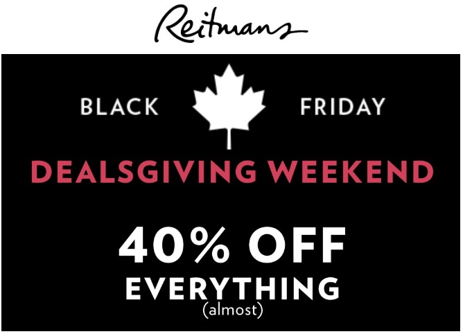Reitmans Canada Black Friday Sale: Save 40% off Everything, Today