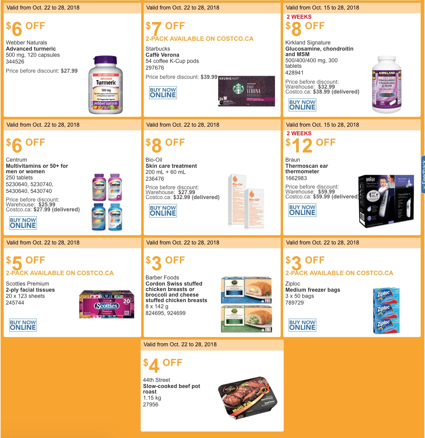 0df3c3fe06 Costco Canada has now released the new weekly instant discount handouts!  These handouts are available at all Costco Wholesale warehouses in Quebec.