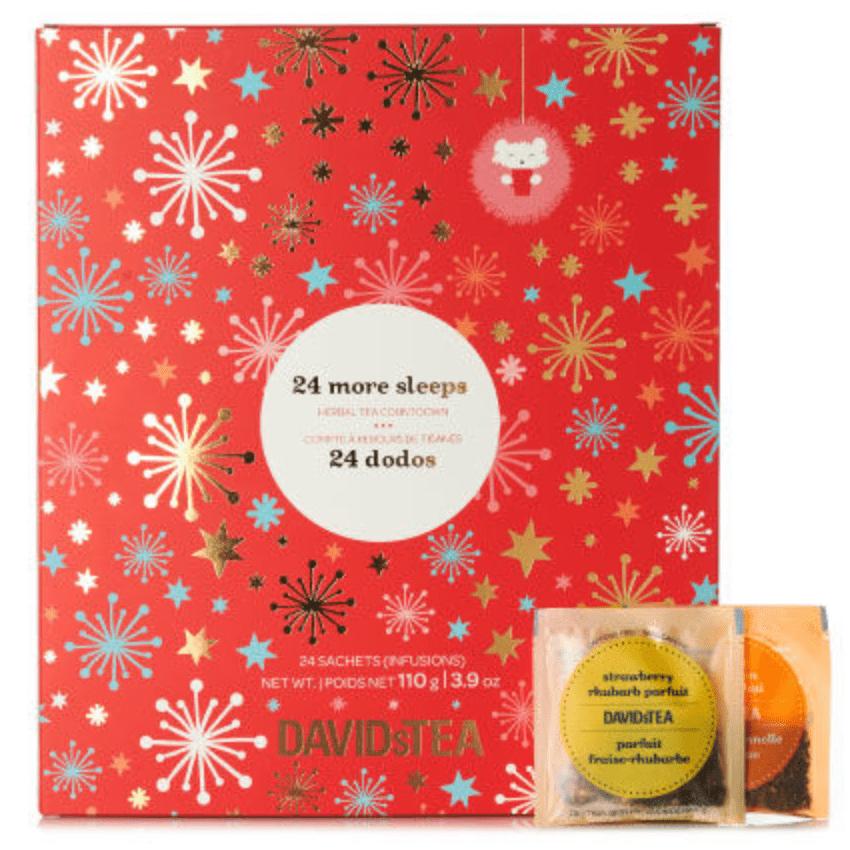 Davidstea Canada S 24 Days Of Tea Advent Calendar Now Available