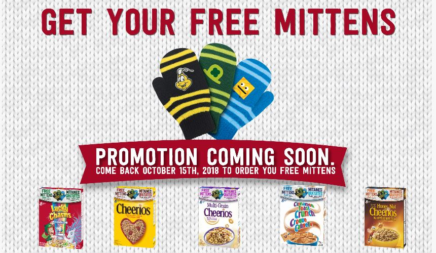 General Mills Canada Free Mittens Promotion Starts October