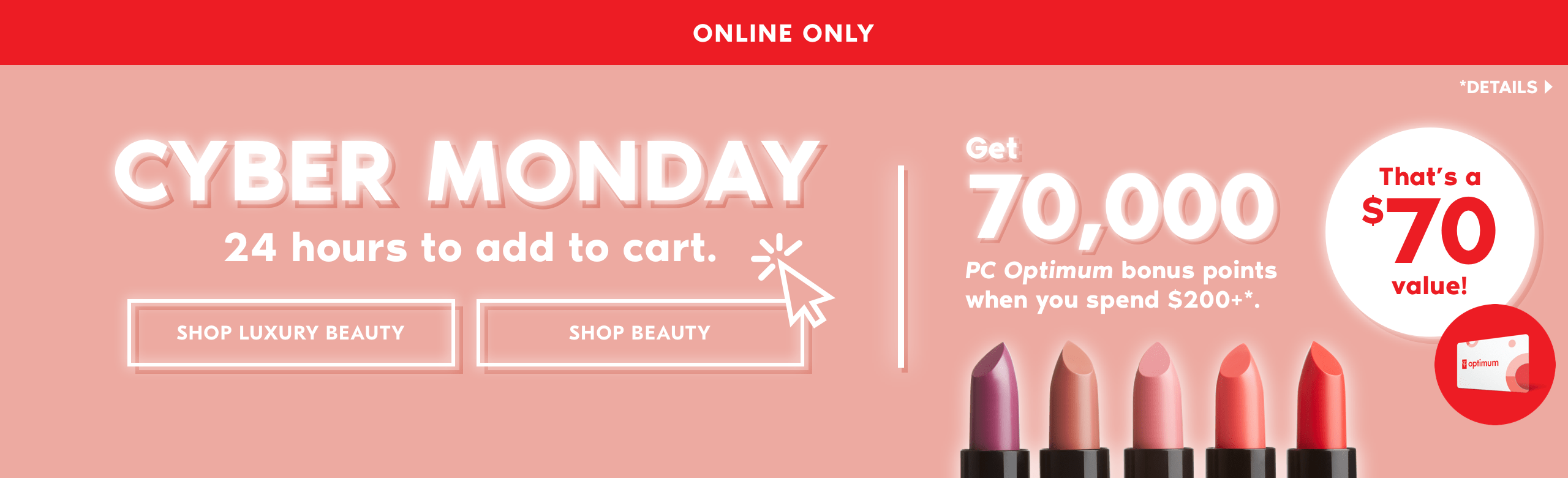 b131450bdcb Beauty Boutique by Shoppers Drug Mart Canada Cyber Monday Deal  70