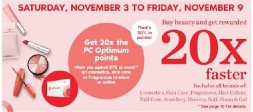 Shoppers Drug Mart Canada PC Optimum Offers: Get 20x the PC