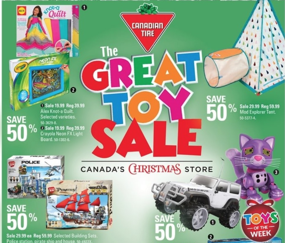 Canadian Tire Pre Black Friday Greats Toys Sale: Save 50% off Select