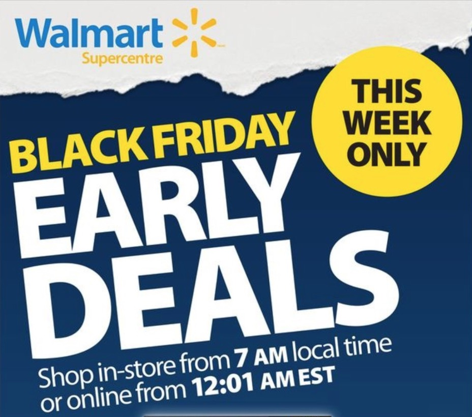 Walmart Canada Black Friday 2018 Early Deals Flyer Canadian Freebies Coupons Deals Bargains Flyers Contests Canada