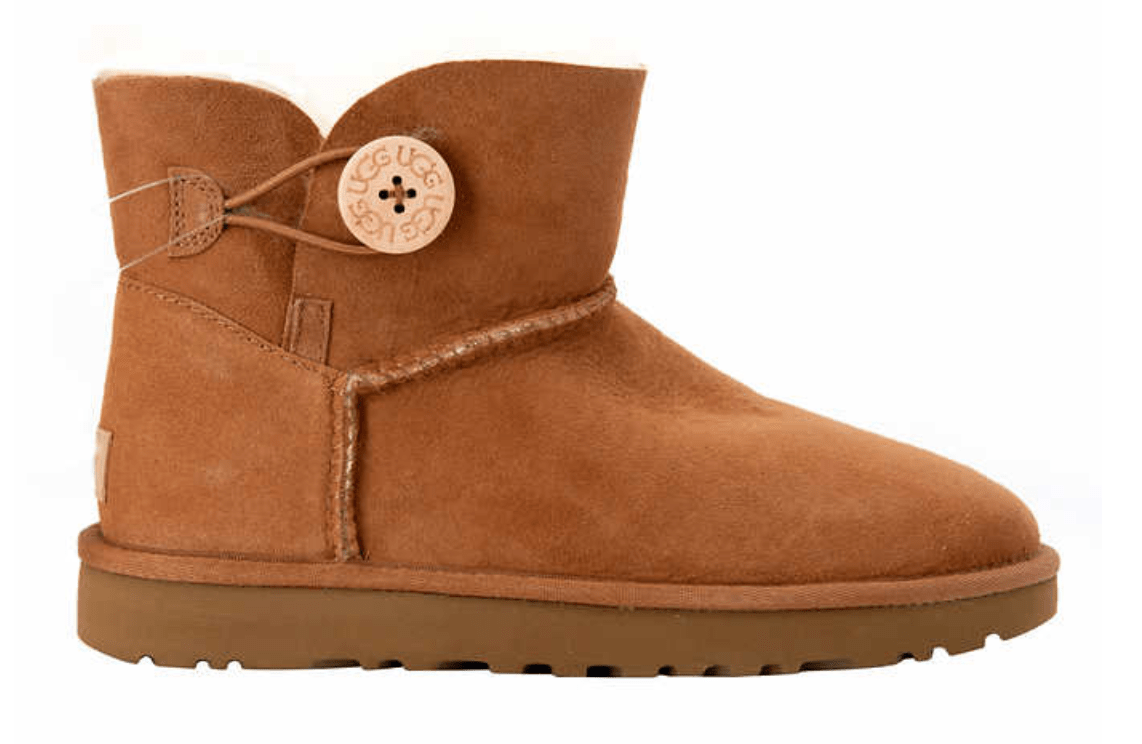 The UGG Mini Bailey Button II Boot in brown or black is available at Costco  for  124.99 with free shipping. Moreover 18a8f7176