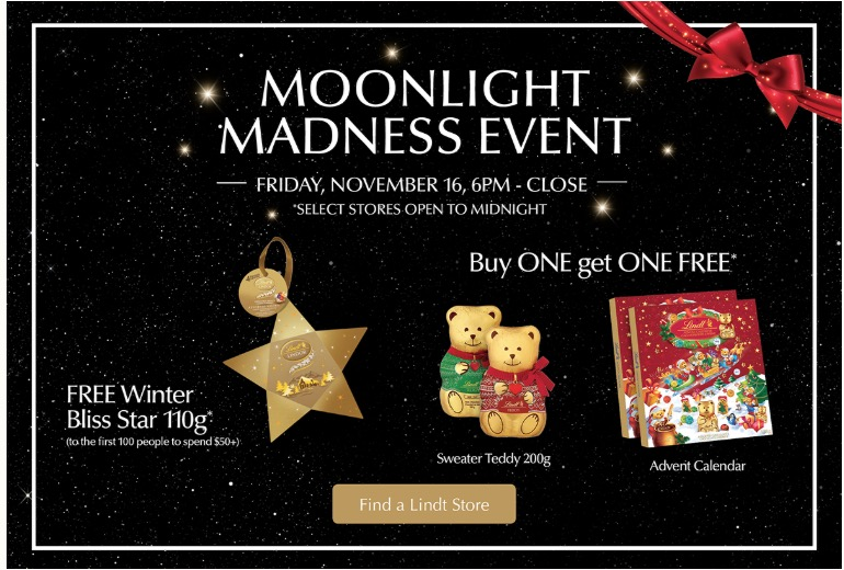 Lindt Chocolate Canada Madness Event Sale: Buy One, Get One FREE + Get 100 Lindor Truffles for Only $35, From 6 PM – Close, Today