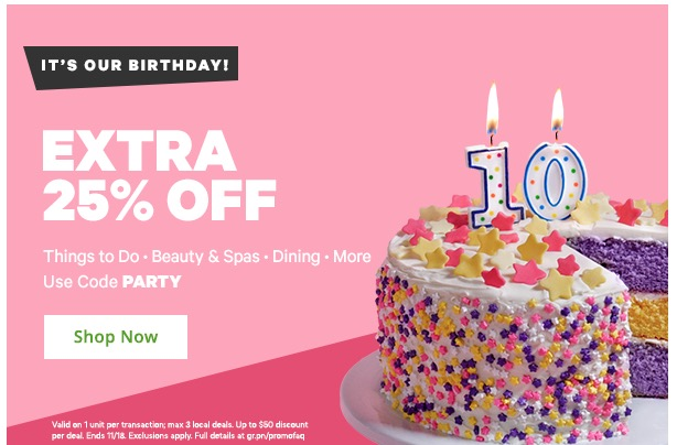 addition elle birthday coupon code