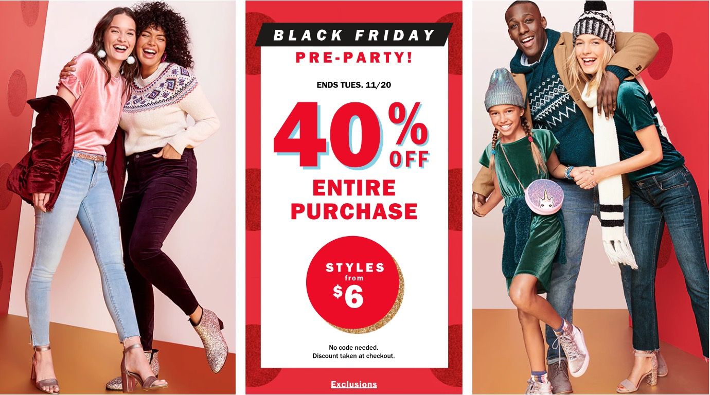 90ec1368fb0f8 Old Navy Canada Black Friday Pre-Party Sale: Save 40% Off Your Entire  Purchase + 50% off All Hats Gloves & Scarves, Today Only!