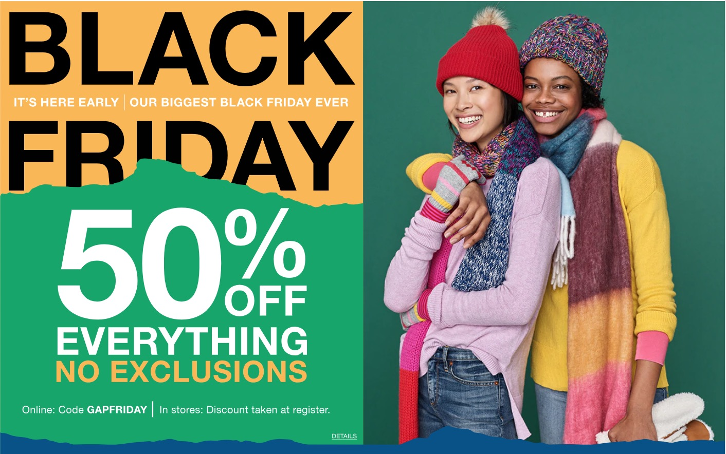 Gap Canada Black Friday 2018 Early Sale: Save 50% off Everything with Promo Code + More Deals!