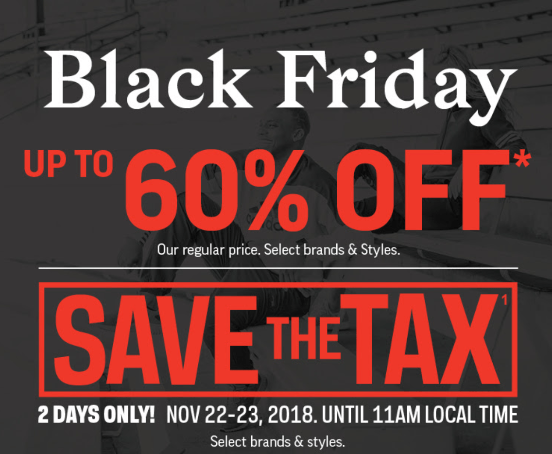 c96bb0f8f37 Sport Chek Canada Black Friday Sale  Doorcrashers Up to 60% Off + Save the  Tax Until 11AM + Free Shipping + More!