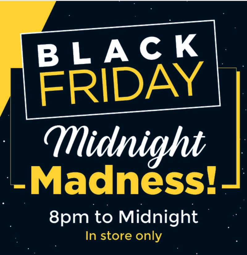fa6675eb5 ... Madness sale Starts 8:00 pm to midnight, today only, that includes:  save 40% – 67% off many items. Using the exclusive Black Friday savings  coupon, ...