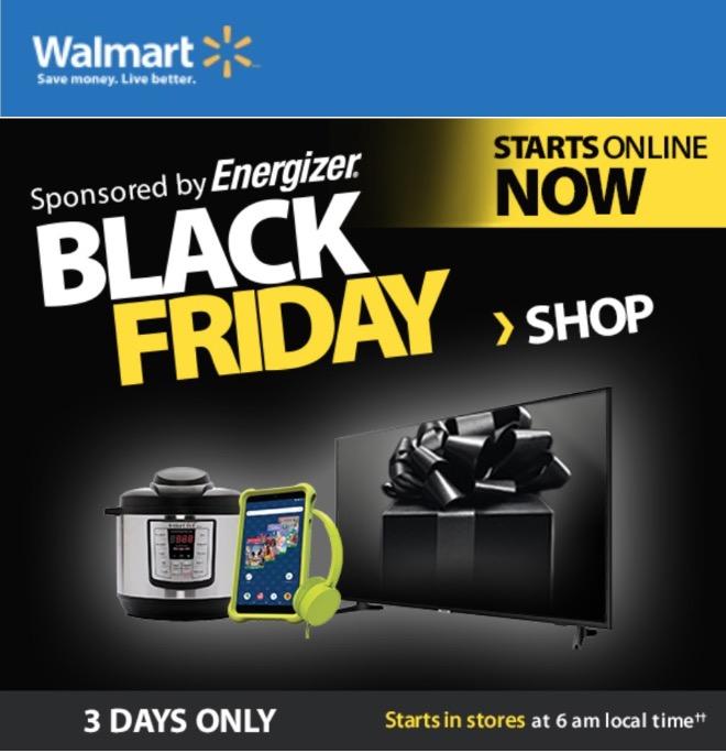 Walmart Canada Black Friday 2018 Online Deals Live Hot