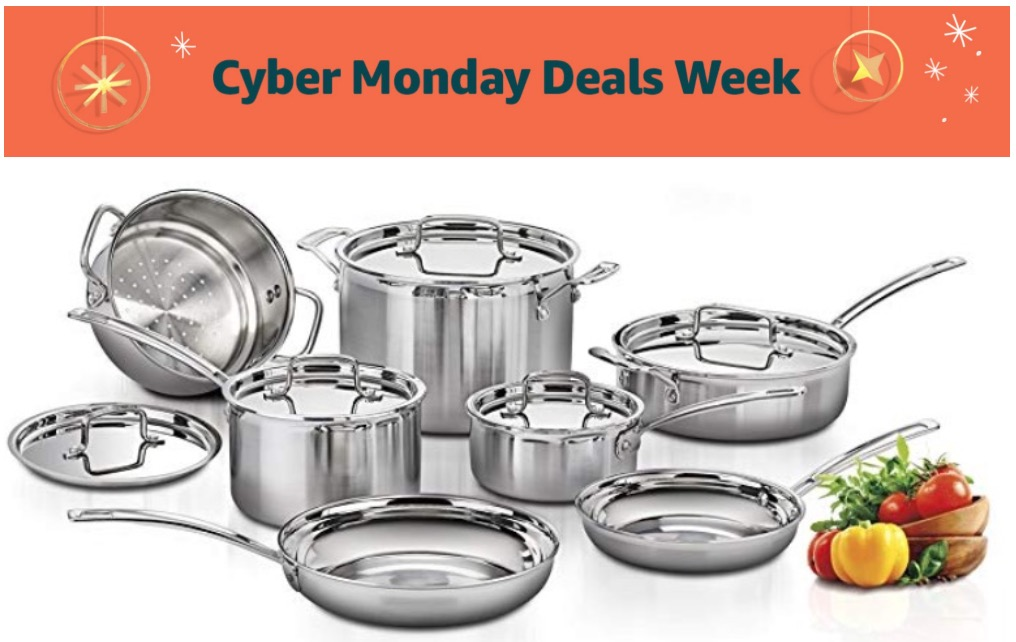 Amazon Canada Cyber Monday Week Deals – Today, November 25: Save 54% on Cuisinart MultiClad Pro Stainless Steel 12-Piece Cookware Set & 64% on Movies