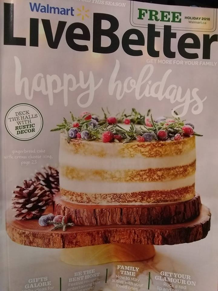The Latest Edition Of Walmart Live Better Magazine Has Begun To Hit Stores And This Is Holiday 2018