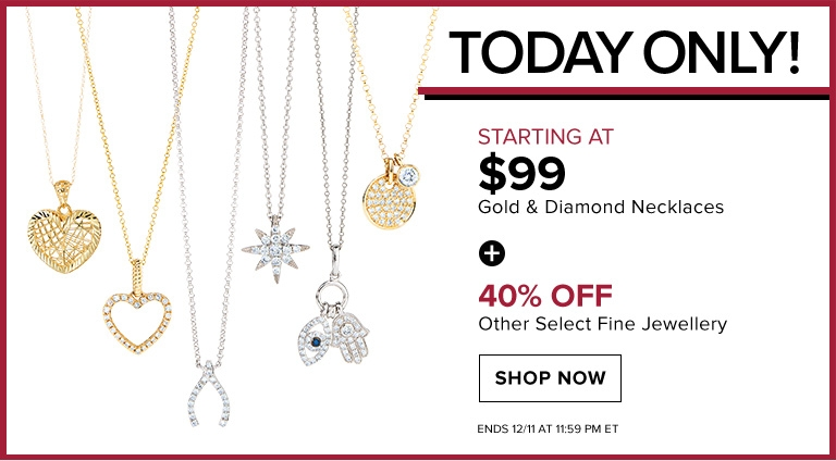 Hudson's Bay Canada Daily Deals: Save an EXTRA 15% Off Clearance, Sale & Regular Priced Items + Gold & Diamond Necklaces Starting at $99 + More!