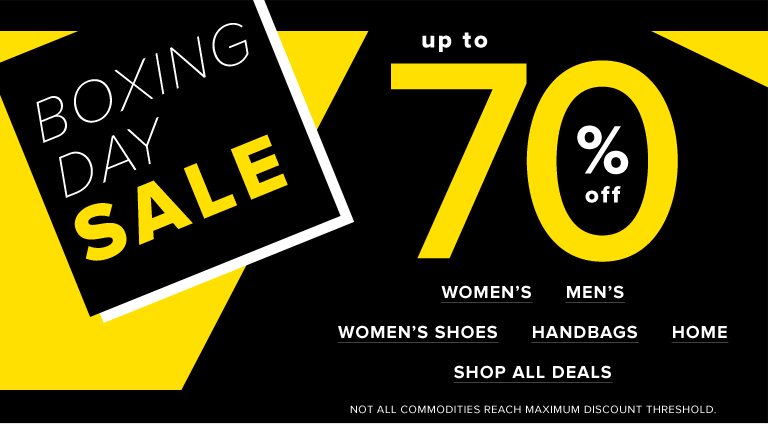 113bdd9b79a1 Hudson's Bay Canada Boxing Day Sale Starts Now: Save Up to 70% Off Women's,  Men's, Kids' & Home Items