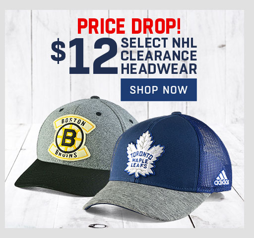 c8613fba This sale ends on December 17 2018. You can also buy select NHL clearance  headwear for $12 and save big on thousands of clearance styles.