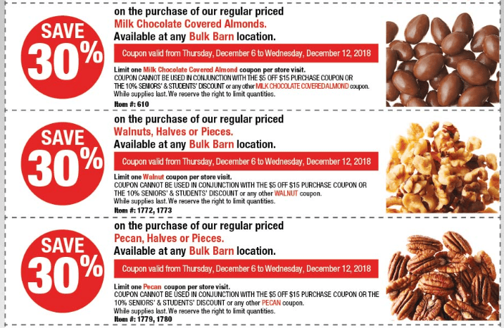 Bulk Barn Canada Coupons: Save $5 Off your Total Purchase of