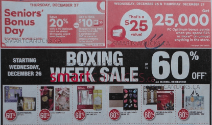 Shoppers Drug Mart Canada Boxing Day/Week 2018 Flyer Deals