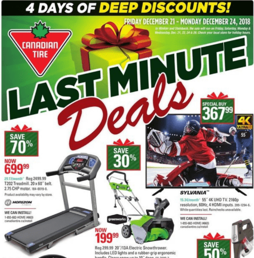 Canadian Tire Last Minute Pre Boxing Day Deals 4 Days Of Deep Discount Save 75 Off Many Items Hot Canada Deals Hot Canada Deals