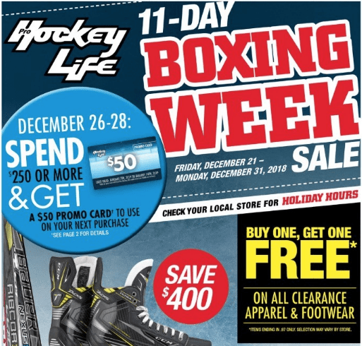 c4806a5b616 Pro Hockey Life Canada has a great Boxing Day Week Flyer 2018 sale  available now. Enjoy great savings that include