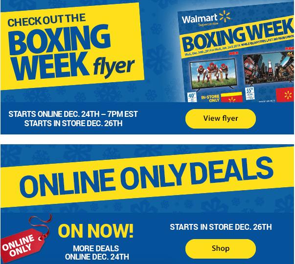 070952b76c0 Walmart Canada Boxing Week 2018 Flyer & Deals Starts Online December 24 at  7:00 pm