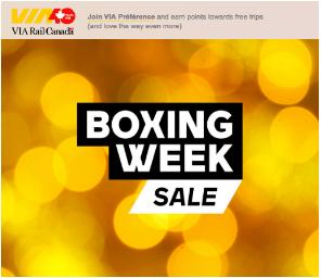 VIA Rail Canada Boxing Week 2018 Sale! - Hot Canada Deals ...
