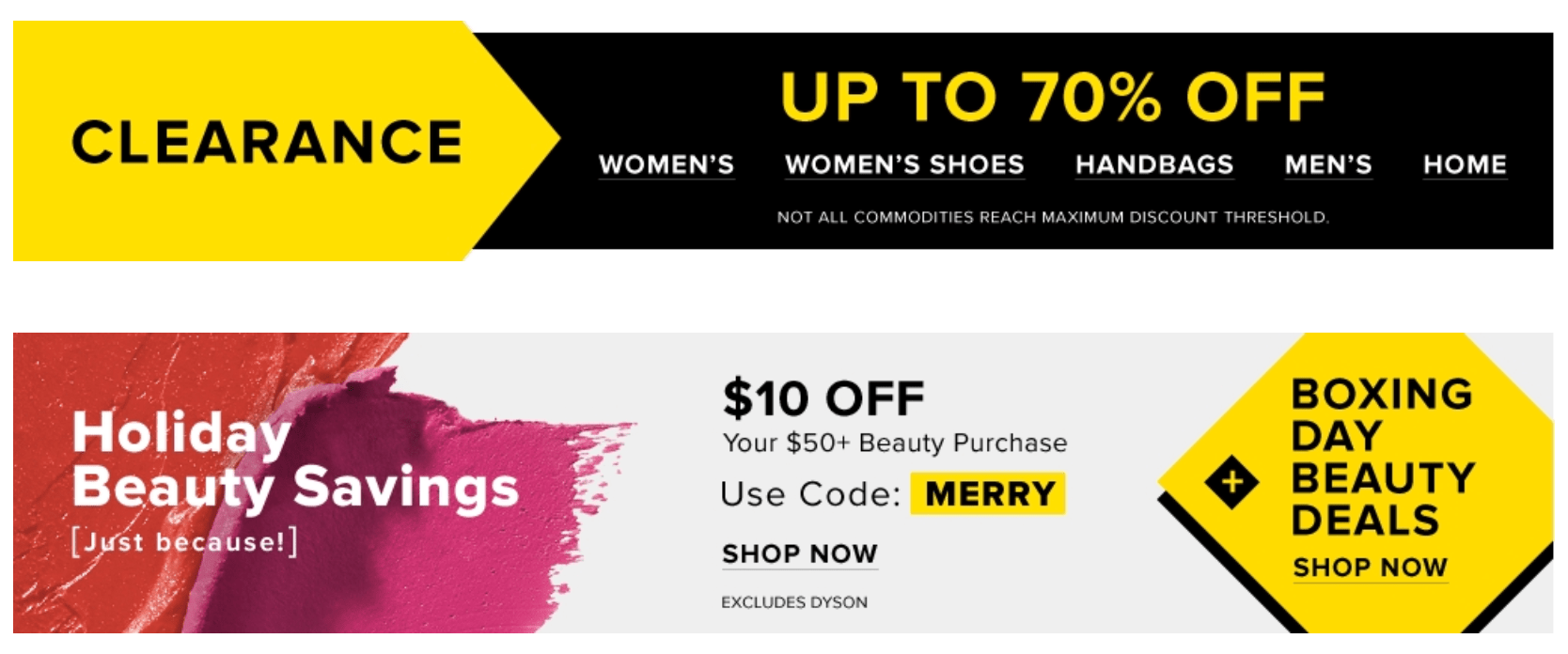 44785a578a Hudson s Bay Canada Boxing Day Sale  Save Up to 70% Off Sitewide +  10 Off   50 Beauty Purchase + More