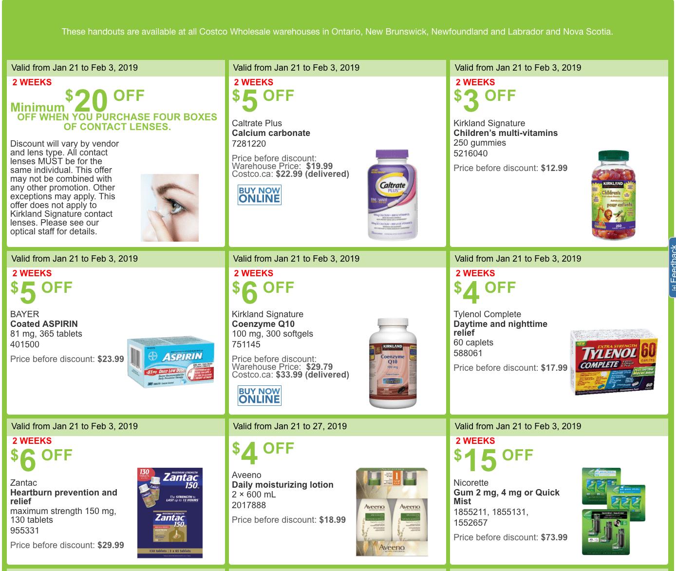 aspirin coupons canada 2019