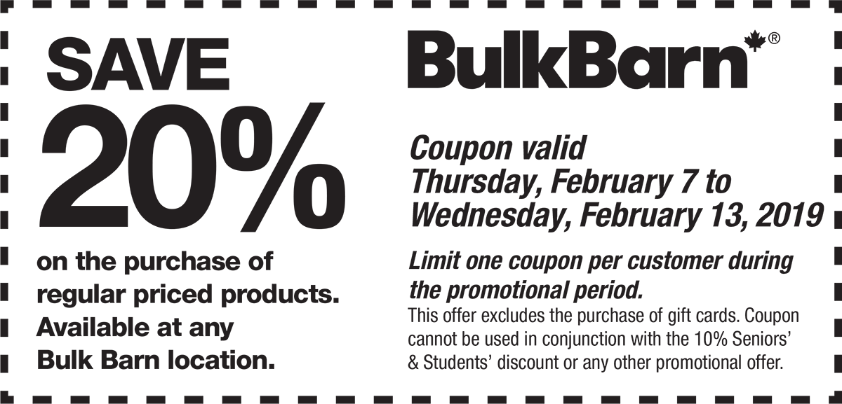 Bulk Barn Canada Coupons: Save 20% Off Purchase + 25% Off