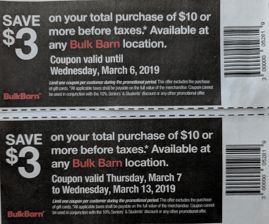 Bulk Barn Weekly Coupons February 14 to 20