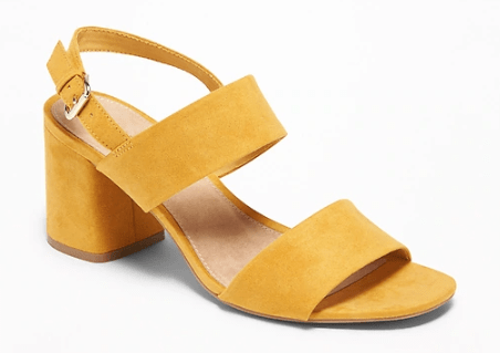 3df4676d6861e This Faux-Suede Slingback Block-Heel Sandals are on sale for only $27.96  (originally $39.94) when you use the code MORE at checkout to receive 30%  off.