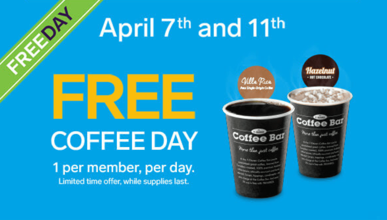 7-Eleven Canada FREE Coffee on April 7 and 11 | Canadian