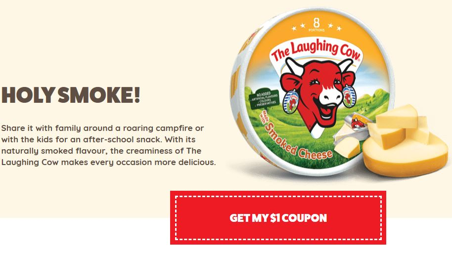 photo about Nyx Printable Coupon called Canadian Discount coupons: Help save $1 Upon The Laughing Cow Smoked Cheese