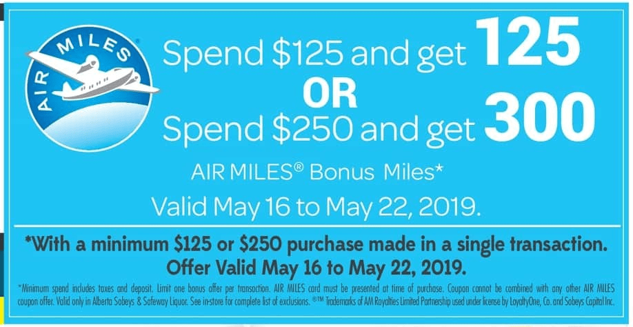 safeway canada air miles deals