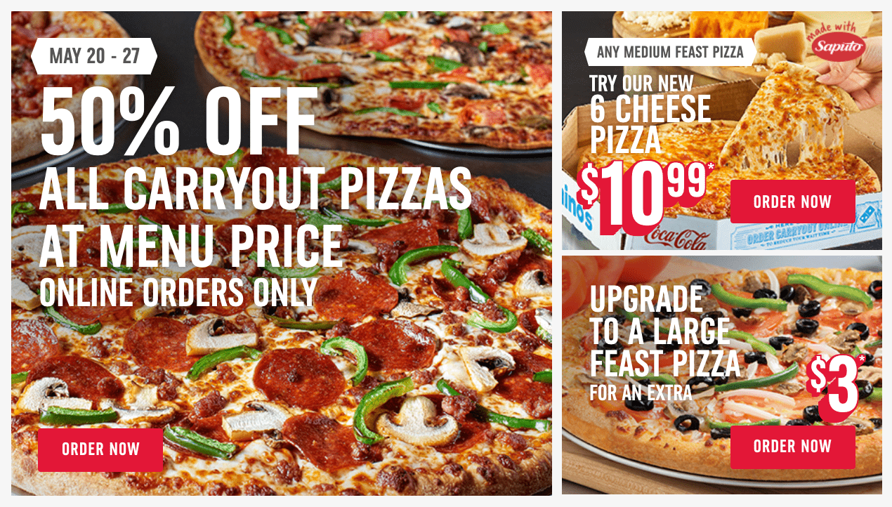 dominos pizza carryout deals