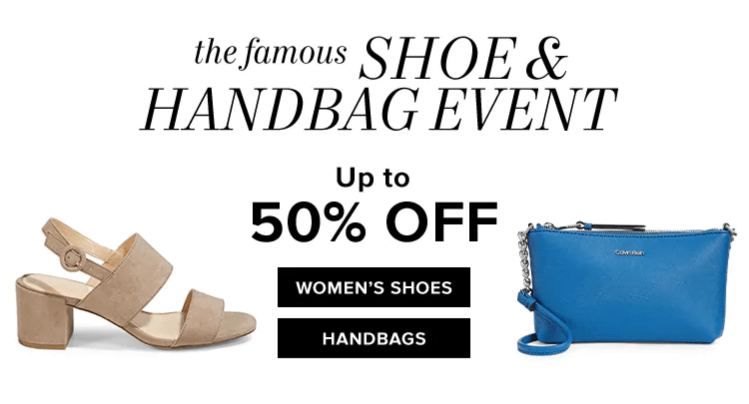 Hudson's Bay Canada Shoe & Handbag Event Up to 50% Off + FREE Shiseido Gift With Purchase