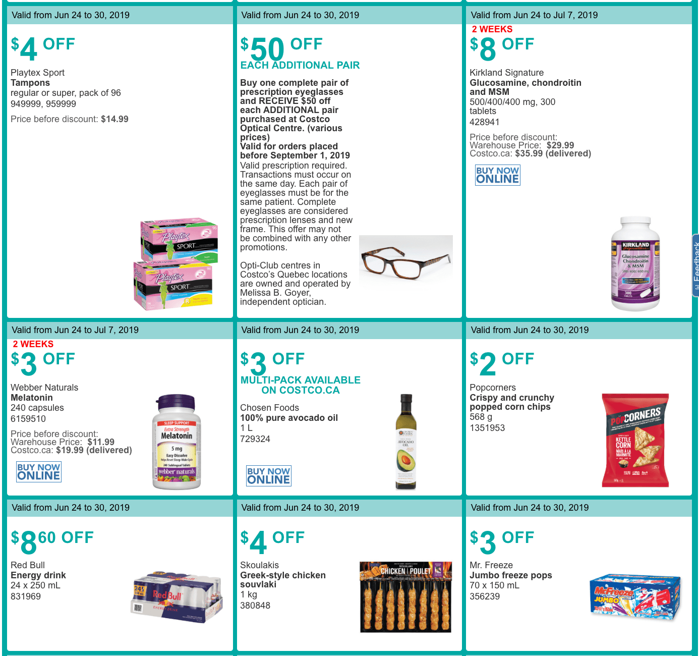 Costco Canada Summer Savings Weekly Coupons & Flyers: For