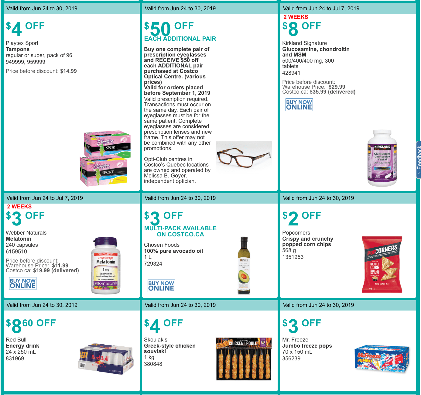 ed271c8e6 Costco Quebec handouts are valid from June 24, 2019, until June 30, 2019.  Some of the deals are valid until July 14, 2019.