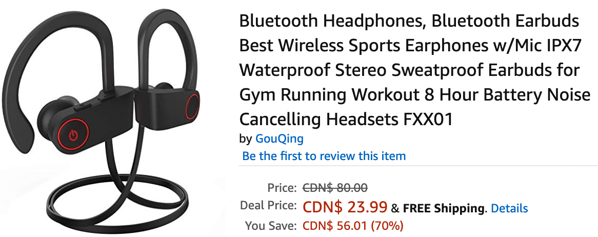 Amazon Canada Hot Deals Save 70 On Bluetooth Headphones Canadian Freebies Coupons Deals Bargains Flyers Contests Canada