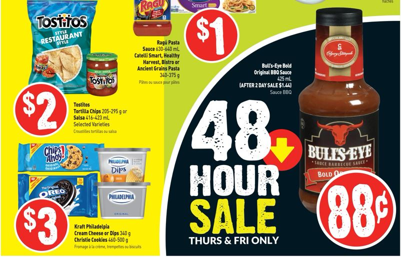 Freshco Ontario: Bullseye BBQ Sauce 88 Cents Each July 25th