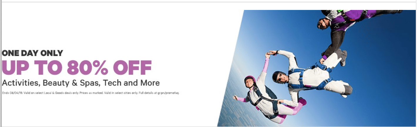 Groupon Canada Sale: Save up to 80% off on Activities